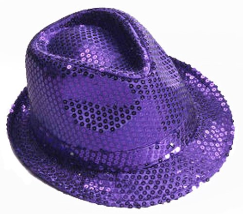 [Forum Mardi Gras Costume Party Hat Purple] (Period Piece Halloween Costumes)