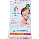 bloom +KIND Sensitive Skin Unscented Hypoallergenic Baby Wipes, White, 20 Count
