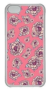 iPhone 5c Cases Unique Cool PC Transparent Cases Personalized Design Pink Flower