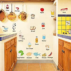 Decorate Cute Wall Stickers With Food At Home