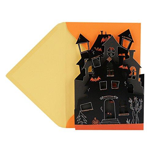 Hallmark Displayable Halloween Card (Haunted House)