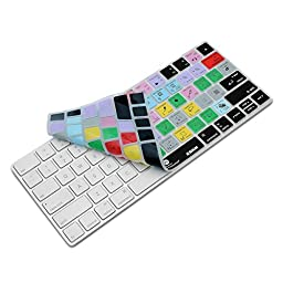 XSKN Apple Magic Keyboard Cover Functional Photoshop CC Shortcut Silicone Skin Protective Film for Magic Keyboard MLA22B/A, US Layout