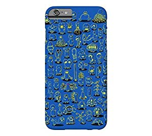 99 Monsters iphone 6 4.7 Blue Suede Barely There Phone Case - Design By Humans