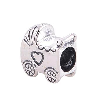 Cochecito de bebé 925 plata de ley cuenta para pulsera para Pandora pulseras: Amazon.es: Juguetes y juegos