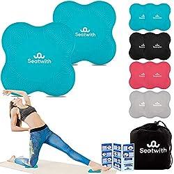 Seatwith Yoga-Knie-Pad 2er Pack Kniekissen mit Transportbeutel+Trainingsanleitung PDF Maximale Entlastung und…