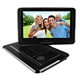 SYNAGY 14inch Portable DVD Player Portable CD Player with Swivel Screen for Car & Kids