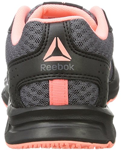 Reebok Women's Express Runner Competition Running Shoes, Gris Foncã/Vert Fluo/Blanc/Argent Schwarz (Black/Ash Grey/Sour Melon/White)
