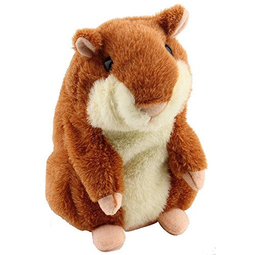 NEW Lovely Talking Hamster Plush Toy Hot Cute Speak Talking Sound Record Hamster #s(coffee)