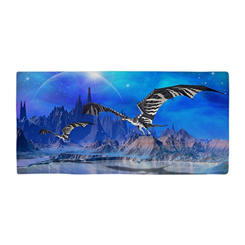 CafePress - Fantasy Dragons Beach Towel - Large Beach Towel,