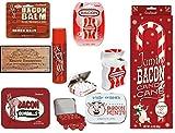 Bacon Candy Gift Set Christmas Gag Bag - 5 piece, bacon lip balm, bacon gumballs, bacon mints, bacon floss & giant bacon cane. By Kinayto Enterprises