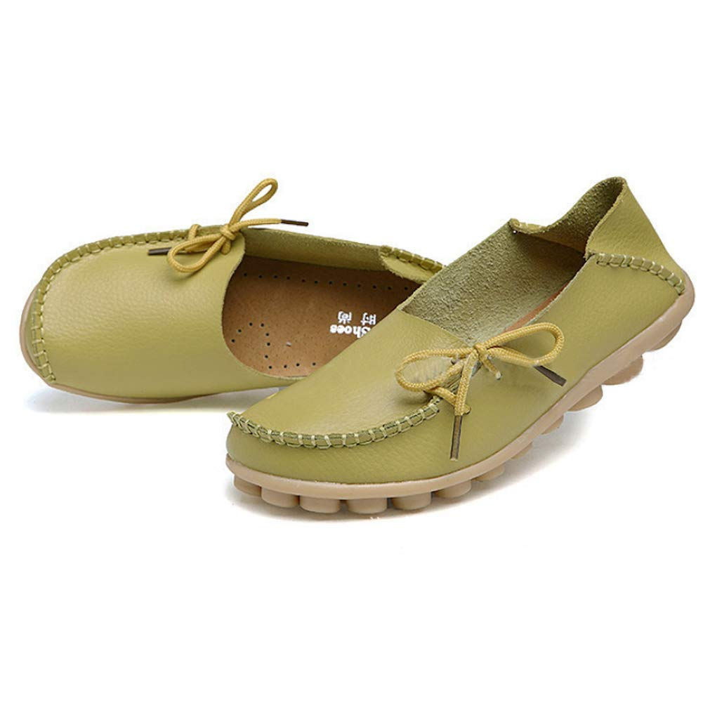 Yudesun Womens Shoes Loafer Flats Comfy Leather Lace-Up Moccasins Ladies Girls Multicolor Work Ankle Fashion Pumps Shoes