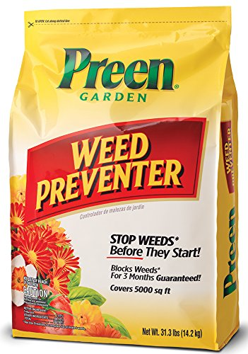 - Preen 2464083 Garden Weed Preventer - 31.1 lb. - Covers 5,000 sq. ft