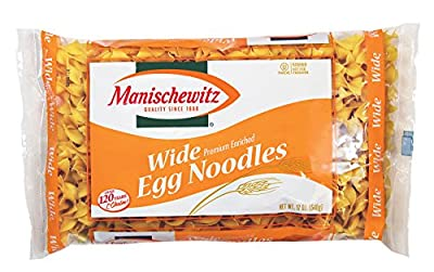MANISCHEWITZ Wide Egg Noodles, 12-Ounce Bags (Pack of 12)