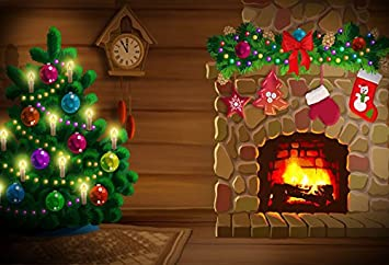 Amazon Com Baocicco Cartoon Christmas Greeting Card Backdrop 10x8ft Photography Background Christmas Tree Colored Bauble Balls Shiny Lights Fireplace Flame Stocking Children Party Camera Photo Available in many file formats including max, obj, fbx, 3ds, stl, c4d, blend, ma, mb. amazon com baocicco cartoon christmas