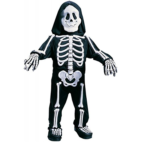 Totally Skelebones Costume Toddler Kids Boys Skeleton Halloween Fancy Dress (S; Small)