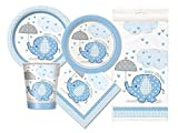 Blue Elephant Baby Shower Party Package - Serves 16 (Blue)