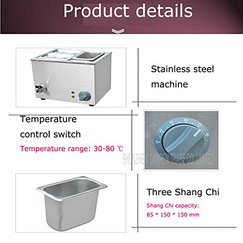 Commerical Three-cylinder Electric Chocolate Fountain Fondue Hot Chocolate Melt Pot Melter Machine (110V) by Hanchen Instrument® (Image #3)