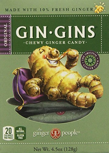 Gin-gins Original Chewy Ginger Candy 4.5 Oz (Pack of 6)