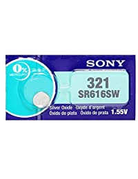 Sony Watch Battery Button Cell SONY 321, SR616SW, D321, V321, GP321, SR616 (Pack of 5)