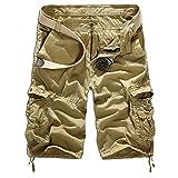 Men's Summer Retro Casual Cargo Shorts Multi Pockets