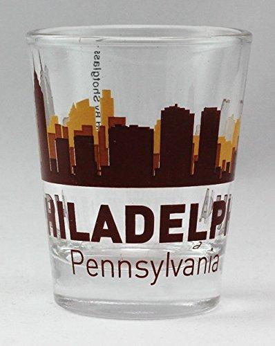 (Philadelphia Pennsylvania Sunset Skyline Shot Glass)