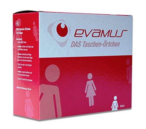 Evamus - Wegwerf Urinal 5 Stück, Taschen WC für Frauen, Taschen ÃÂ-rtchen, Einweg Toilette, by EVAMUS