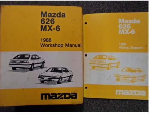 1988 Mazda Mx6 Mx 6 626 Service Repair Shop Manual Factory Oem Rare Book 88 Mazda Amazon Com Books