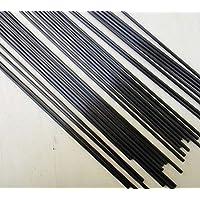 Fielect 2.5mm Diameter Carbon Fiber Straight Bar for RC Airplane Kites Etc 200mm 5pcs