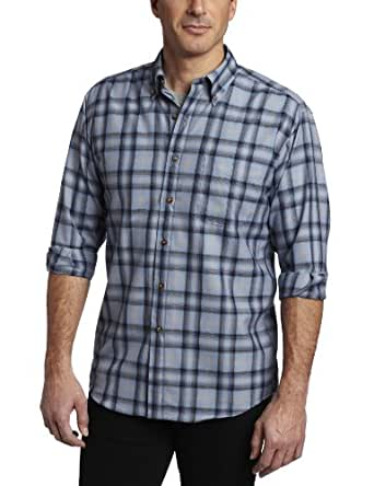Pendleton Men's Sir Pendleton Classic Fit Button Down Shirt, Blue/Navy/Black Ombre, Medium