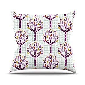 "Kess InHouse Pellerina Design ""Orchid Spring Tree"" Purple Abstract Outdoor Throw Pillow, 20"" x 20"""