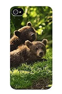 Slim Fit Tpu Protector Shock Absorbent Bumper Bear Cubs Case For Iphone 4/4s
