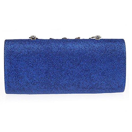 X Wedding 11 Rhinestone X5cm banquet flower NVBAO evening blue bag Party Ladies Purse£¬ 22 embroidery handbag Clutch Oq46zw1T