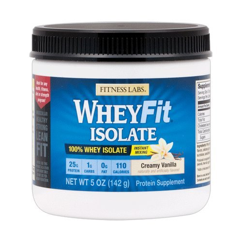 Fitness Labs WheyFit Isolate - 100% Whey Protein Isolate (5 Ounces, Creamy Vanilla)