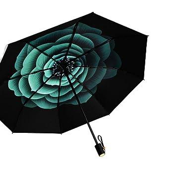 Exquisite Embossed UPF 50 Sun Protection Umbrella Compact Fold Anti-UV Outdoor