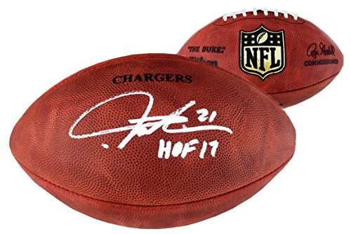LaDainian Tomlinson Signed San Diego Chargers NFL Authentic Wilson Football - With
