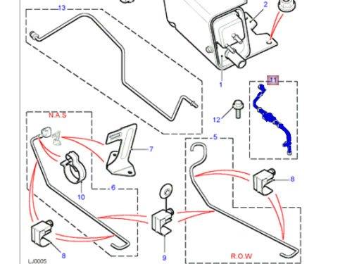 Genuine LAND ROVER FUEL PURGE VALVE RANGE ROVER 4.0 4.6 P38 1999-2002 WTV100150