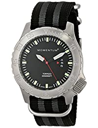 Momentum 1M-DV74B7S Men's Torpedo Sport Wrist Watches, Black