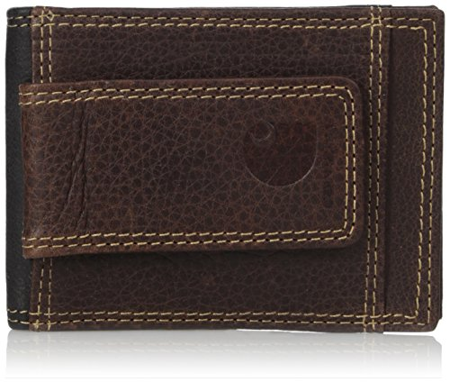 Carhartt Men's Front Pocket Wallet, Brown/Black, ONE SIZE