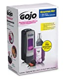 GOJO 8712-D1 2 Piece ADX-7 Antibacterial Foam Refill Dispenser Kit, Plum Fragrance