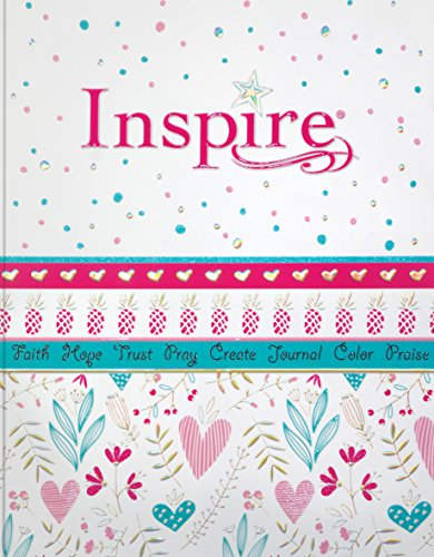 Inspire Bible for Girls NLT (Softcover): The Bible for Coloring & Creative Journaling