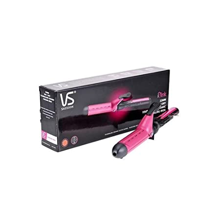 Amazon.com: [Vidal sasson] VSCD119PIK 32mm Tourmaline Ceramic Curling Irons Wet Hair + Free Gift(Key Ring): Beauty