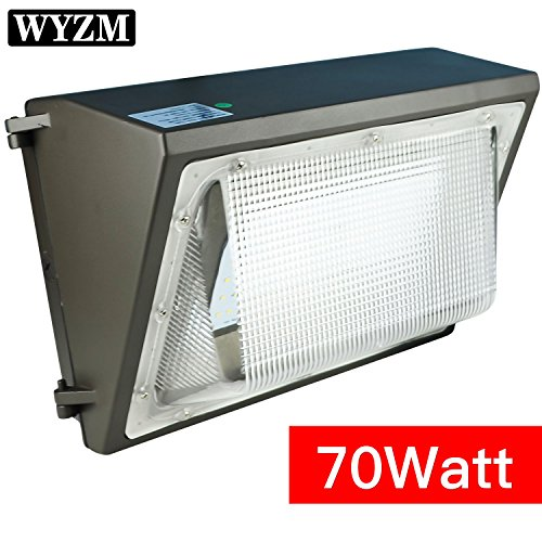 WYZM 70Watt LED Wall Pack Light,250-300W HPS MH Bulb Replacement,Outdoor LED Lighting Fixture for Building Home Security and Walkways (70w Hps)
