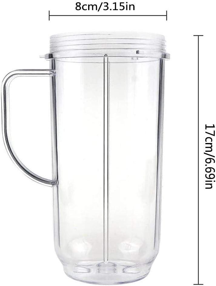 cming Blender Bottle Vaso de Repuesto para licuadora para exprimidor Magic Bullet 250W con Tapa abatible