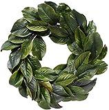 Magnolia leaf wreath 24''