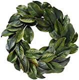 BD Crafts Magnolia leaf wreath 24''
