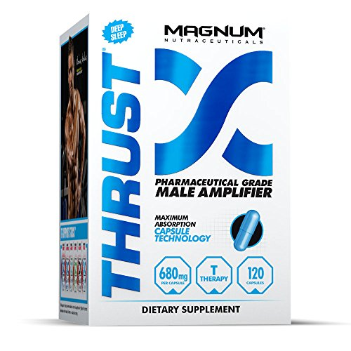 Magnum Nutraceuticals Thrust Male Amplifier - 120 Capsules - Pharmaceutical Grade Testosterone Booster - All Natural - Stronger & Harder Muscles - Better Sleep