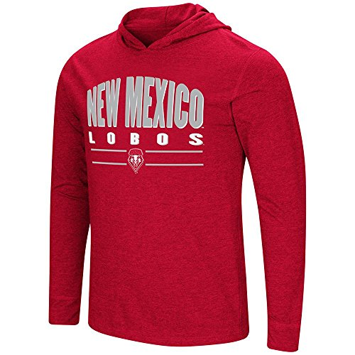 Mens New Mexico Lobos Long Sleeve Tee Shirt Hoodie - L