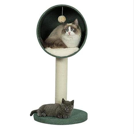 Yuan Nido de Mascotas - Marco de Escalada de Gato Árbol de Madera Maciza Gato Sisal