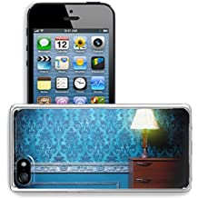 MSD Apple iPhone 5/iPhone 5S/iPhone SE Clear case Soft TPU Rubber Silicone Bumper Snap Cases iPhone5/5S IMAGE 29680660 Vintage lamp in retro blue toned interior Rococo fashion decor Rustic wallpapper