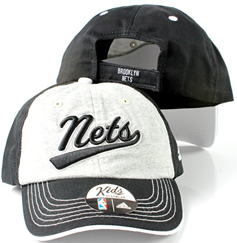 adidas Brooklyn Nets NBA Boys Size 4-7 Structured Adjustable Cap